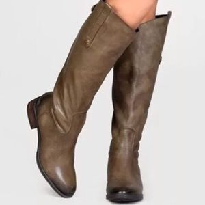 Sam Edelman | Penny 2 Olive Leather Riding Boot